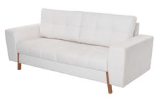 三个位子舒适白色沙发 图库摄影