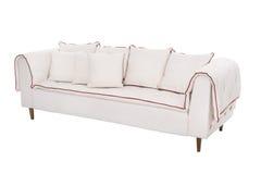三个位子舒适红色和白色 免版税库存照片