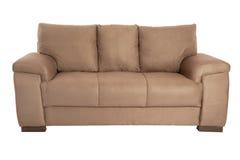 三个位子舒适褐色 免版税图库摄影