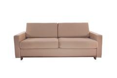 三个位子舒适褐色 库存图片