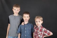 三个兄弟画象 免版税库存照片