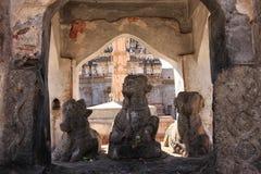 三个公牛雕象 免版税图库摄影