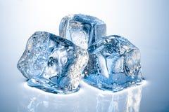 三个冰块 库存图片