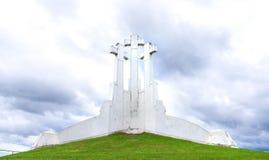 三个十字架在维尔纽斯,立陶宛 图库摄影