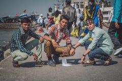 三个印地安男孩 库存照片