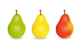 三个可口水多的梨 免版税图库摄影