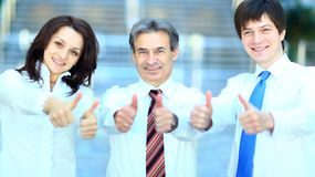 三个商务伙伴 库存图片