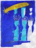 三个国王圣人 皇族释放例证