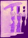 三个国王圣人 向量例证