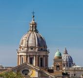 三个圆顶在罗马 图库摄影