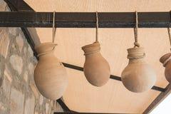 三个土制罐 免版税图库摄影