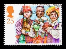 三个圣人,圣诞节1994年-儿童` s诞生剧serie,大约1994年 图库摄影