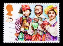三个圣人,圣诞节1994年-儿童` s诞生剧serie,大约1994年 库存照片