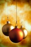 三个圣诞节中看不中用的物品 免版税库存照片