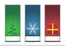 三个圣诞节名牌 库存例证
