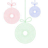 三个圣诞节球五颜六色的背景在线艺术样式的 免版税库存图片