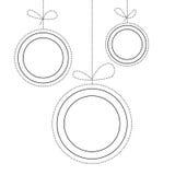 三个圣诞节球黑白背景在线艺术样式的 图库摄影