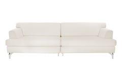三个在白色隔绝的位子舒适沙发 免版税库存照片