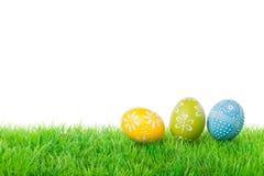 三个复活节彩蛋 免版税库存照片