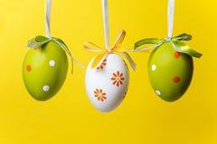 三个复活节彩蛋 免版税库存图片