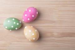 三个复活节被加点的鸡蛋 库存图片
