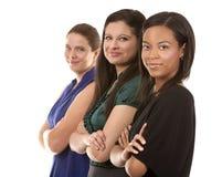 三个女商人 库存图片