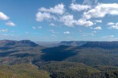 三个姐妹山脉澳大利亚 库存图片