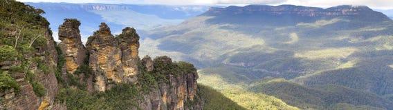 三个姐妹,蓝山山脉国家公园, NSW,澳大利亚 免版税库存图片