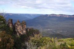 三个姐妹,蓝山山脉, NSW,澳大利亚 库存图片