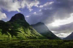 三个姐妹Glencoe苏格兰 免版税库存照片