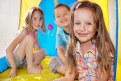 三个孩子 免版税图库摄影