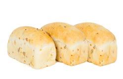 三个小圆面包用红萝卜 免版税库存照片