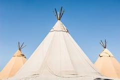 三个帐篷 免版税库存图片