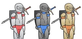 三个战士 图库摄影