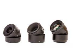 三个摄象机镜头 免版税库存照片