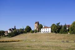 三个教会在华沙的新市镇 免版税库存照片