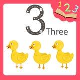 三个数字动物的以图例解释者 皇族释放例证