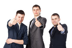 三个新商人 免版税库存照片