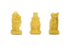 三个星上帝雕象 库存图片