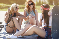 三个最佳的女朋友 库存图片