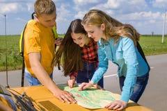 三个朋友旅行 免版税库存照片