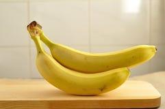 三个未加工的香蕉 免版税库存照片
