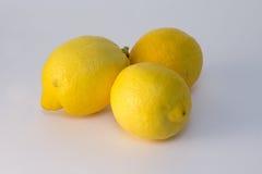三个柠檬 库存照片