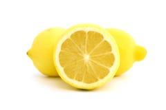 三个柠檬 免版税库存图片