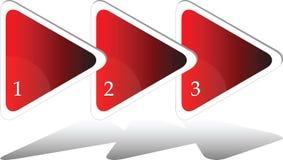 三个步骤三角绘制 库存图片