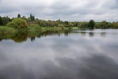 三个池塘谷在卡托维兹在一多云天 免版税库存照片