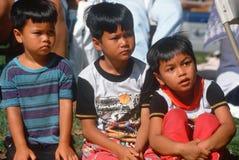 三个泰国男孩 图库摄影