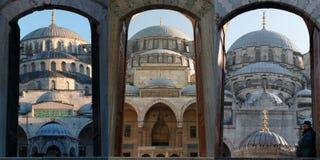 三个清真寺在伊斯坦布尔 免版税库存图片