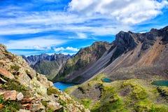 三个湖在上部谷的冰河起源 免版税库存图片