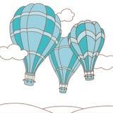 三个热空气气球的传染媒介例证 免版税库存照片